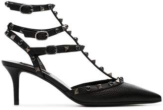 Valentino black rockstud 65 leather pumps
