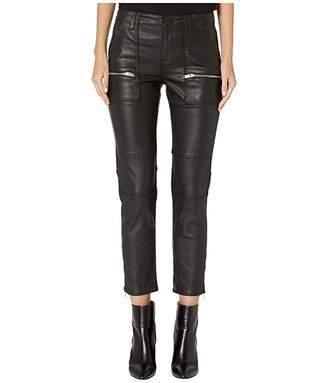 The Kooples Biker Leather Effect Jeans