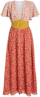 Divine Heritage Ditsy Floral Chiffon Dress