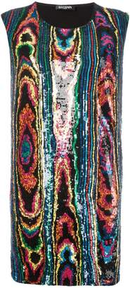 Balmain psychedelic sequin dress