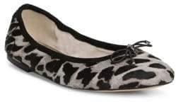 Sam Edelman Felicia Leopard-Print Calf Hair Ballet Flats