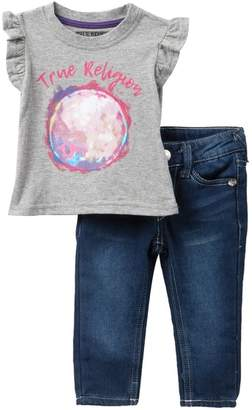 True Religion MyTrue Moon Tee & Jeans Set (Baby Girls)