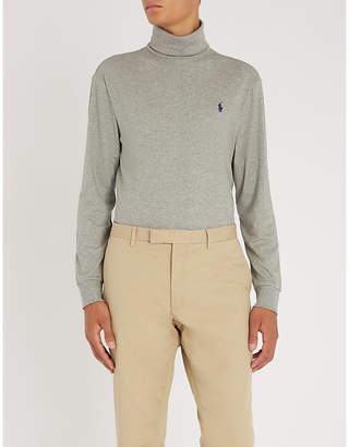 Polo Ralph Lauren Turtleneck cotton-jersey top