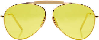 Acne Studios Howard Mix Aviator Sunglasses