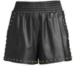 Ramy Brook Henri Leather Shorts