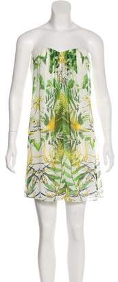 Alice + Olivia Strapless Floral Print Dress
