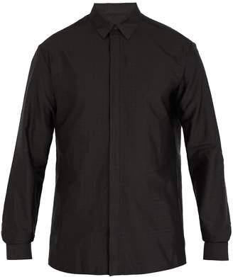 Haider Ackermann Polka-dot jacquard silk-blend shirt