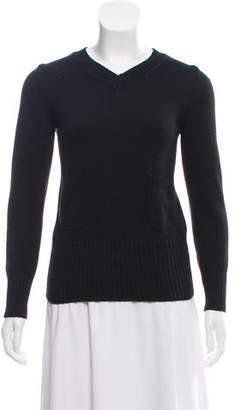 CNC Costume National V-Neck Long Sleeve Sweater