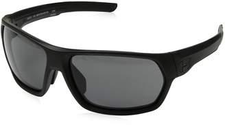 Under Armour Wrap Sunglasses, UA Shock (ANSI) Matte Black Frame/Gray Lens, L