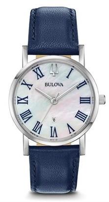 Bulova Leather Ladies Watch 96M146