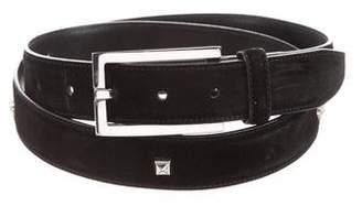 Gianni Versace Studded Suede Waist Belt