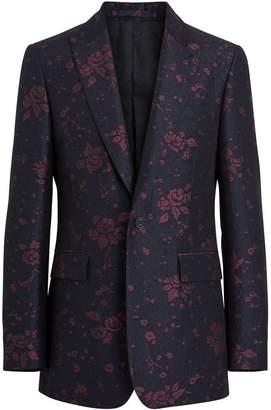 Burberry Slim Fit Silk Wool Matelassé Evening Jacket