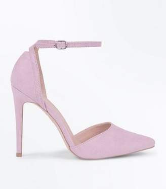 856d7cea288 New Look Lilac Suedette Keyhole Back Pointed Court Shoes