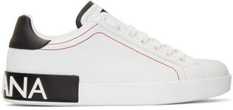 Dolce & Gabbana White and Black Portofino Sneakers