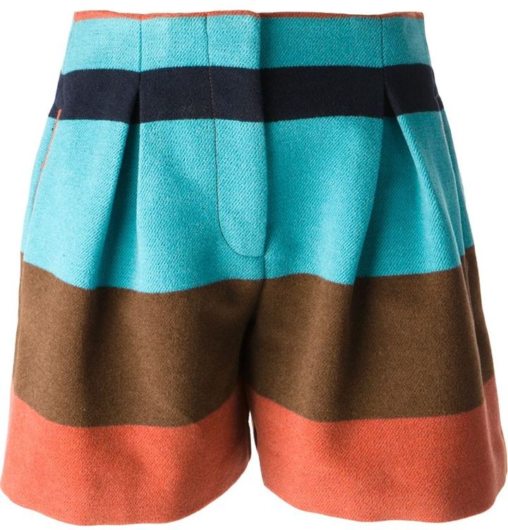 See by Chloe striped shorts