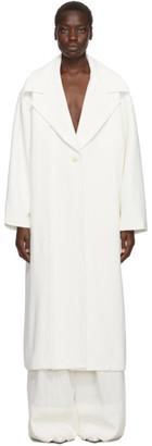 Jacquemus White Le Manteau Quito Coat
