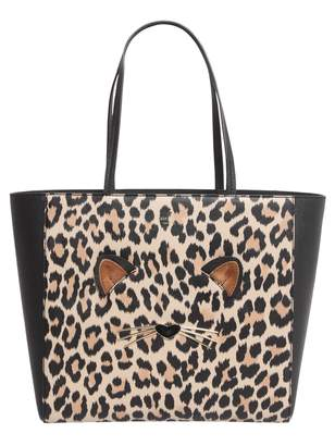 Kate Spade Hallie Leopard Shopping Bag