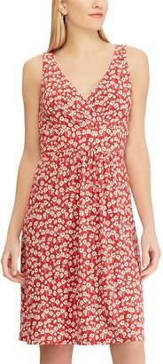 Chaps Women's Print Surplice Fit & Flare Dress