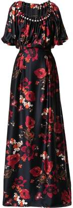 Mother of Pearl long floral print dress