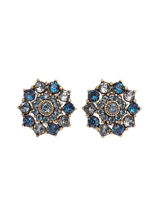 Oscar de la Renta Crystal embellished clip-on earrings
