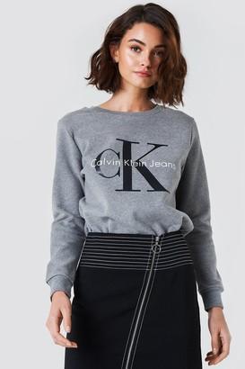 Calvin Klein Crew Neck True Icon Sweatshirt Light Grey Heather