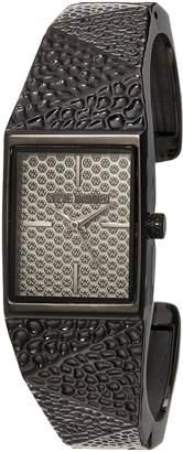 Steve Madden Women's Quartz Resin and Alloy Casual Watch, Color: (Model: SMW041BK)
