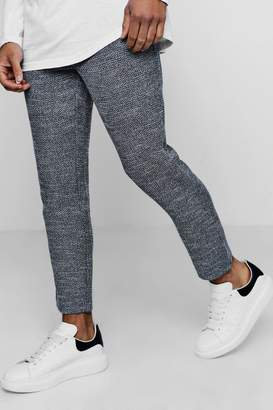 boohoo Smart Jogger Trouser In Herringbone