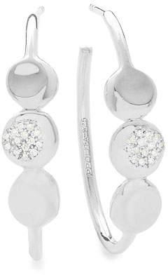 Ippolita 925 Onda Hoop Earrings with Diamonds