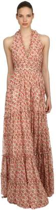 Luisa Beccaria Roses Printed Georgette Dress