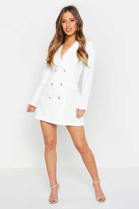 boohoo Petite Button Through Blazer Dress