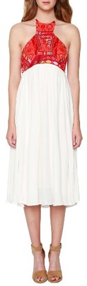 Women's Willow & Clay Embroidered Halter Dress $109 thestylecure.com