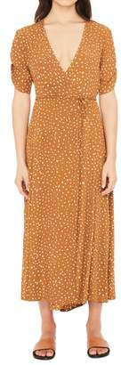 Faithfull The Brand Chiara Dot Print Wrap Dress