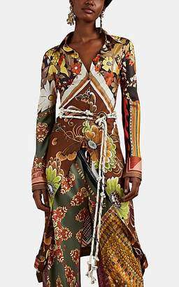 b4b056b4498 Chloé Women's Floral-Paisley Silk Blouse - Orange