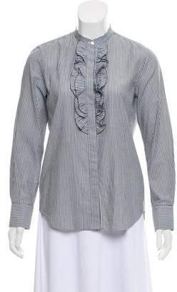 Brunello Cucinelli Printed Button-Up Blouse