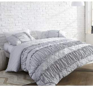 Byourbed BYB Ruffle Pleats Duvet Cover - Glacier Gray