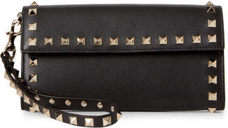 Valentino Black Rockstud Wristlet Wallet