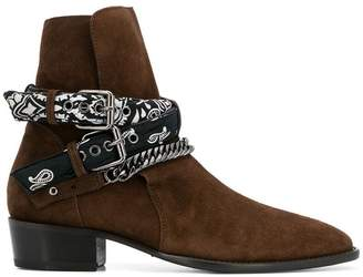 Amiri double buckle western boots