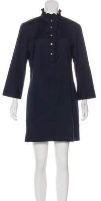 Tory Burch Ruffle-Trimmed Mini Dress