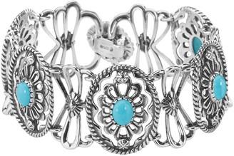 American West Gemstone Concha Link Bracelet