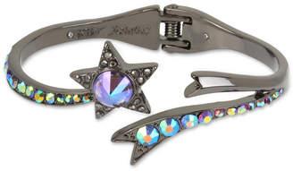 Betsey Johnson Hematite-Tone Crystal Star Bangle Bracelet