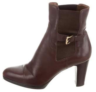 Sergio Rossi Leather Pointed-Toe Boots Brown Leather Pointed-Toe Boots
