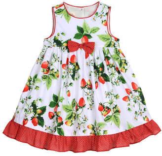 Laura Ashley Girl Strawberry Print Garden Party Dress