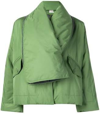 Pleats Please Issey Miyake scarf neck jacket