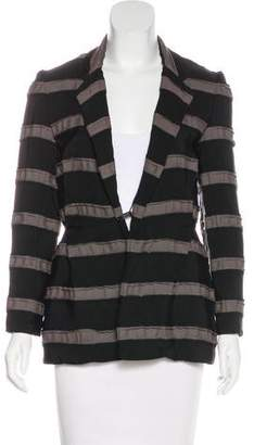 Lanvin Striped Grosgrain Blazer