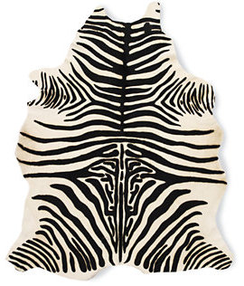 Design Within Reach Edelman® Leather Zebra Cowhide Rug