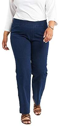 Chic Classic Collection Women's Plus Size Easy Fit Elastic Waist Jean