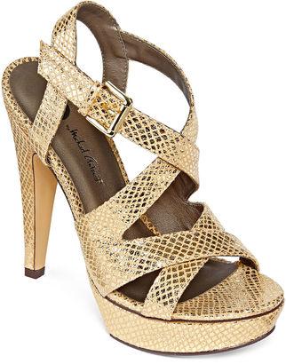 MICHAEL ANTONIO Michael Antonio Randy High Heel Strap Sandals $55 thestylecure.com