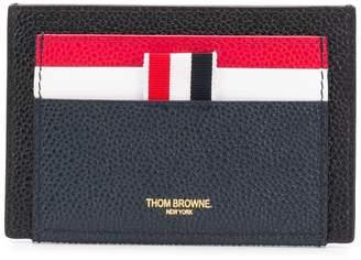 Thom Browne Black Leather Cardholder