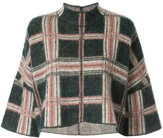Anteprima Argyle Badge knit top