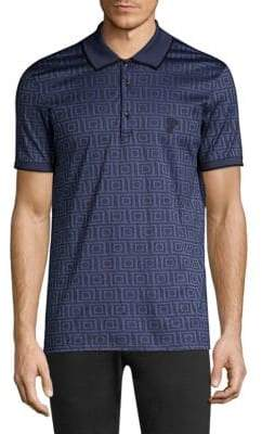 Versace Greek Key Graphic Polo